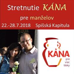Kana pre manzelov 2018