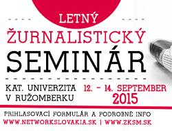 Network Slovakia Zurnalisticky seminar 2015
